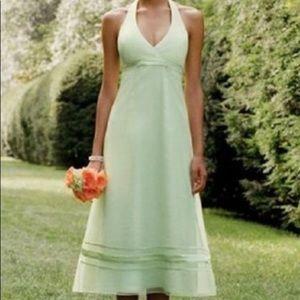 David's bridal halter dress tea length size 6